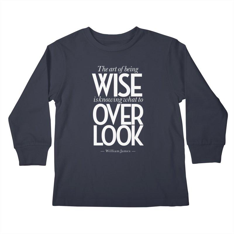 True Wisdom Kids Longsleeve T-Shirt by Brett Jordan's Artist Shop