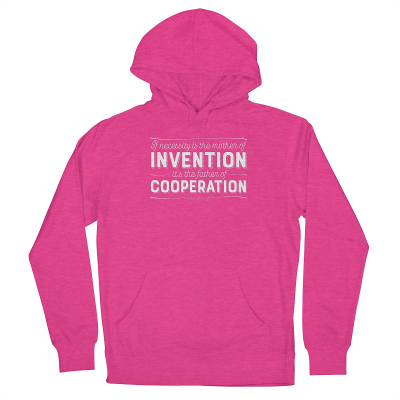 If necessity is the mother of invention... Women's French Terry Pullover Hoody by Brett Jordan's Artist Shop