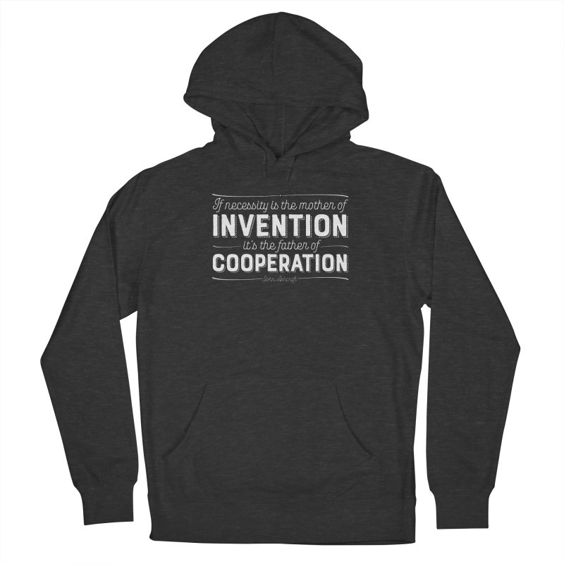 If necessity is the mother of invention... Men's French Terry Pullover Hoody by Brett Jordan's Artist Shop