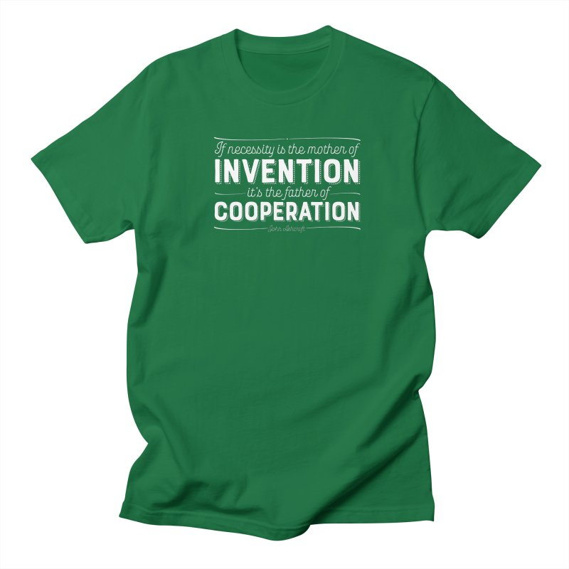 If necessity is the mother of invention... Men's Regular T-Shirt by Brett Jordan's Artist Shop