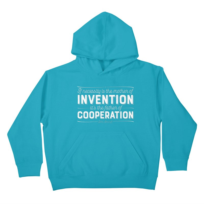 If necessity is the mother of invention... Kids Pullover Hoody by Brett Jordan's Artist Shop