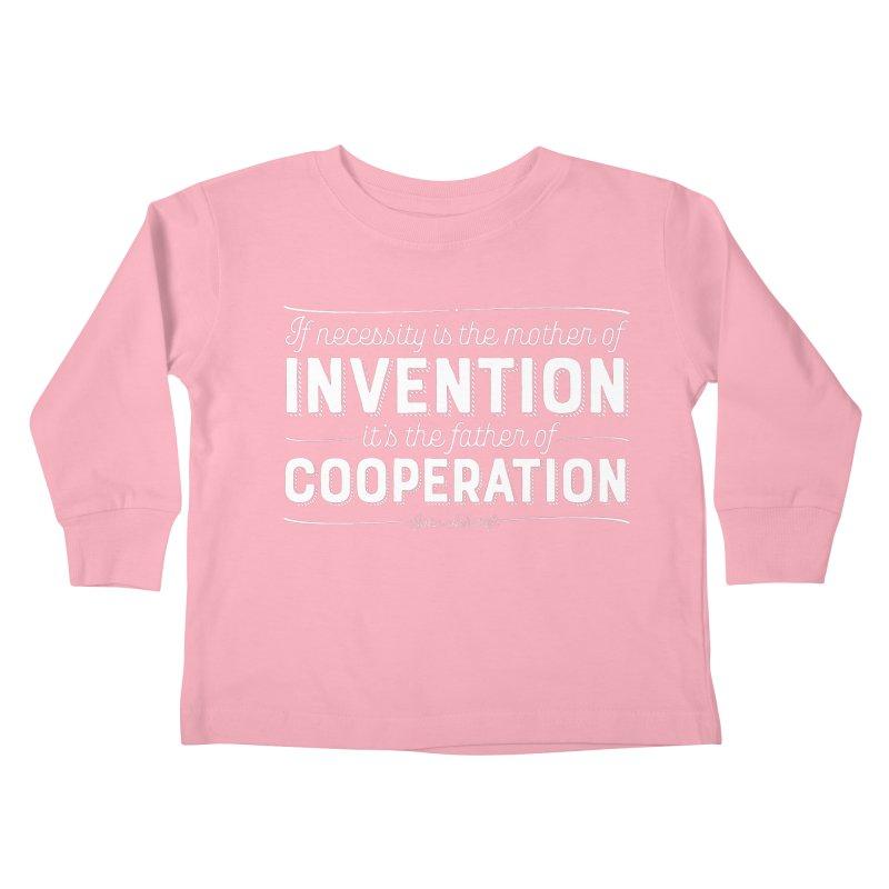 If necessity is the mother of invention... Kids Toddler Longsleeve T-Shirt by Brett Jordan's Artist Shop