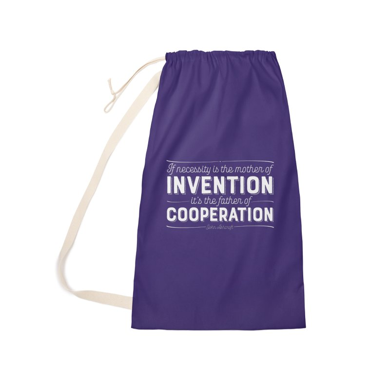If necessity is the mother of invention... Accessories Laundry Bag Bag by Brett Jordan's Artist Shop