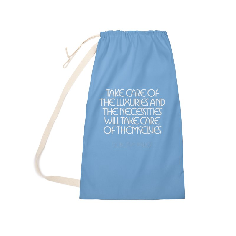 Take care of the luxuries... Accessories Bag by Brett Jordan's Artist Shop