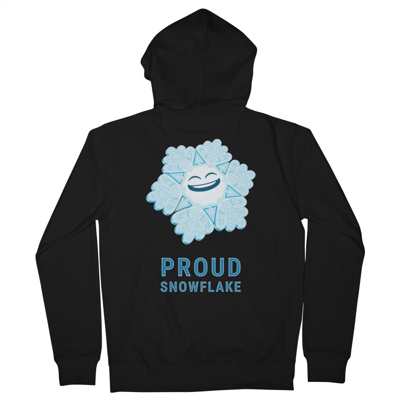 Proud Snowflake Women's Zip-Up Hoody by BRETT WISEMAN
