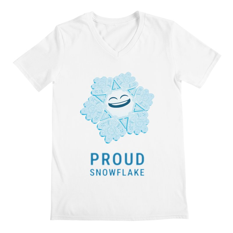 Proud Snowflake Men's V-Neck by BRETT WISEMAN