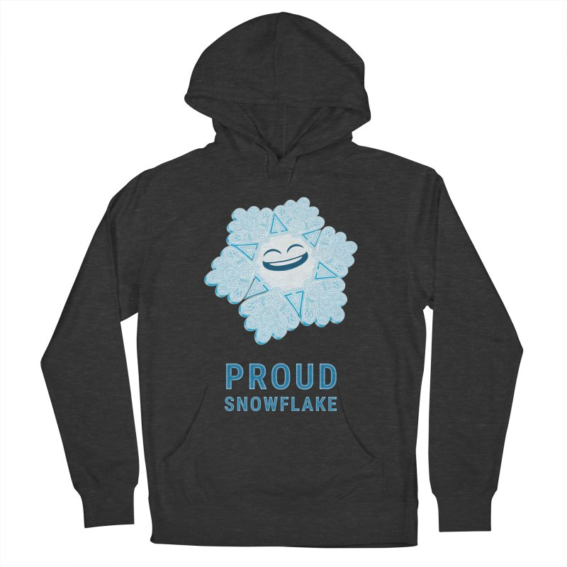 Proud Snowflake Women's French Terry Pullover Hoody by BRETT WISEMAN