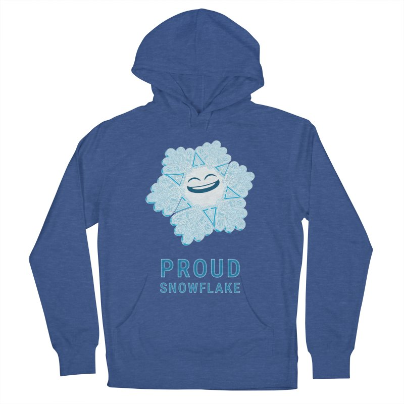 Proud Snowflake Men's French Terry Pullover Hoody by BRETT WISEMAN