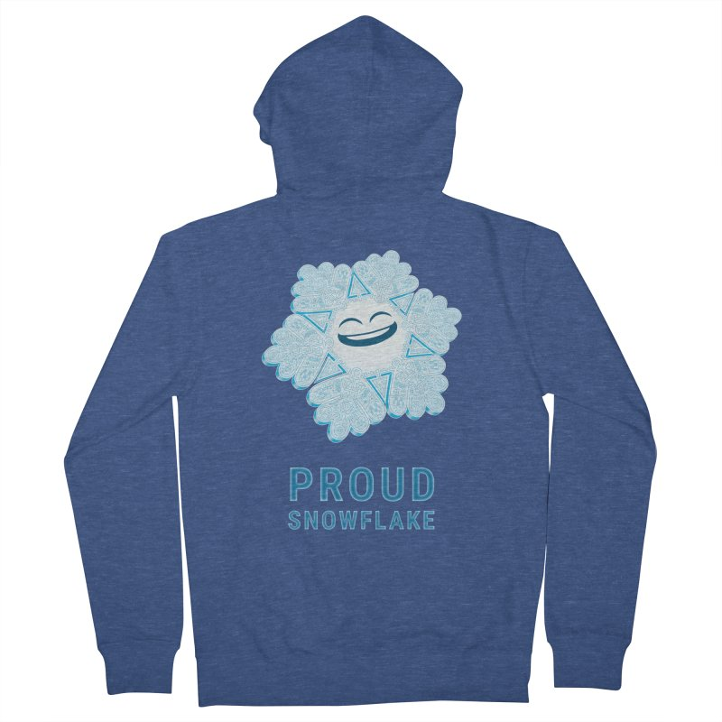 Proud Snowflake Women's French Terry Zip-Up Hoody by BRETT WISEMAN