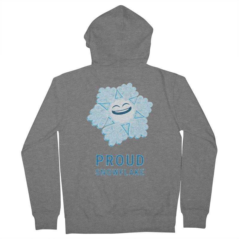 Proud Snowflake Men's Zip-Up Hoody by BRETT WISEMAN