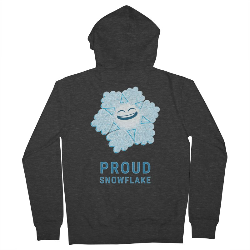 Proud Snowflake Men's Zip-Up Hoody by BRETT WISEMAN