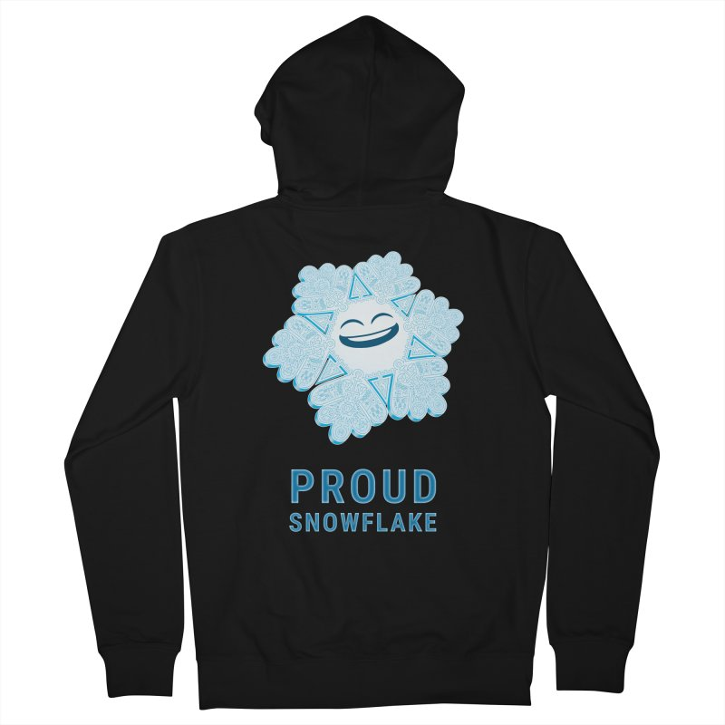 Proud Snowflake Men's French Terry Zip-Up Hoody by BRETT WISEMAN