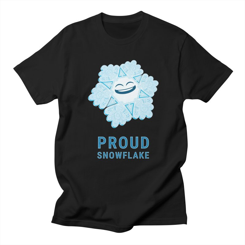 Proud Snowflake Men's Regular T-Shirt by BRETT WISEMAN
