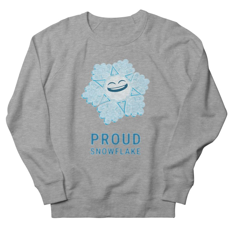 Proud Snowflake Men's French Terry Sweatshirt by BRETT WISEMAN