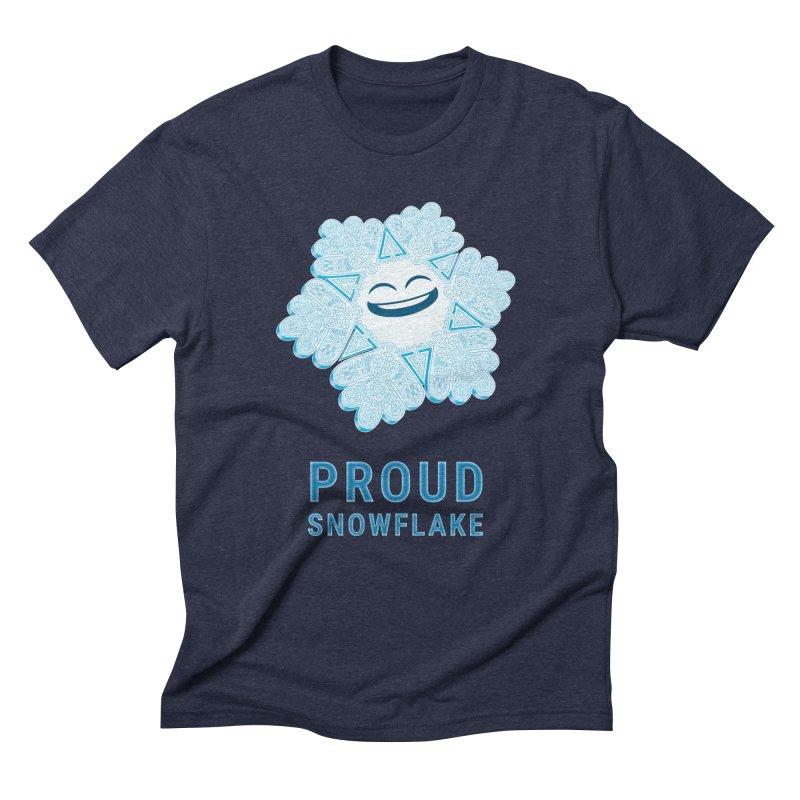 Proud Snowflake Men's Triblend T-Shirt by BRETT WISEMAN