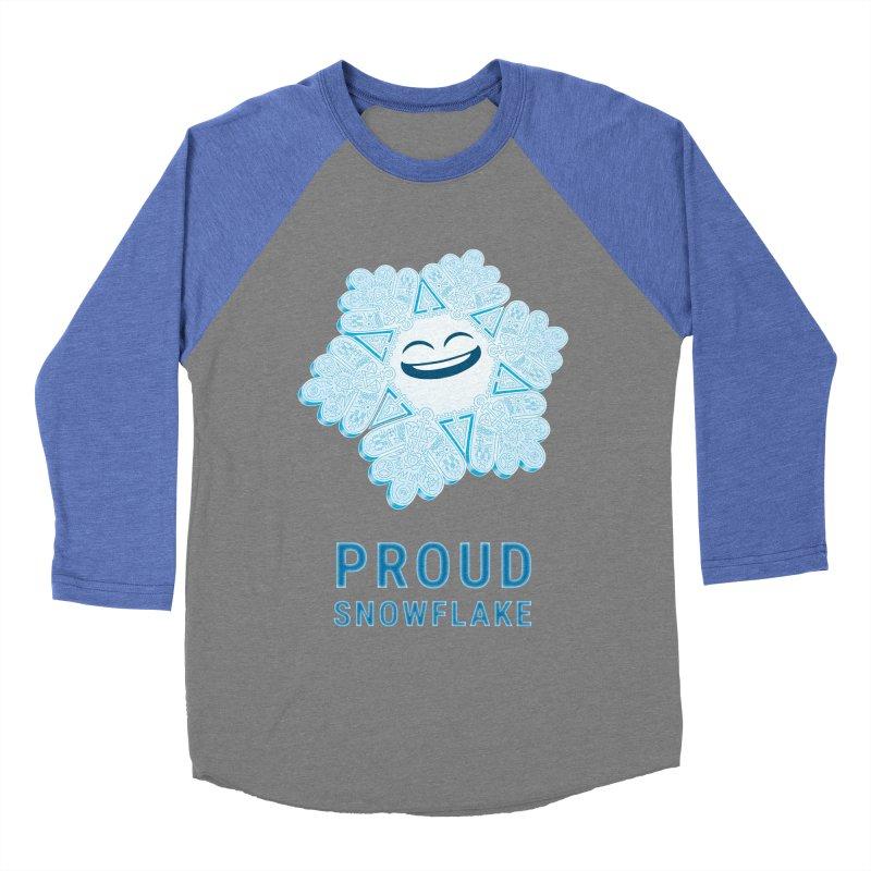Proud Snowflake Women's Baseball Triblend Longsleeve T-Shirt by BRETT WISEMAN