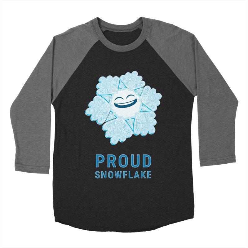 Proud Snowflake Men's Baseball Triblend T-Shirt by BRETT WISEMAN