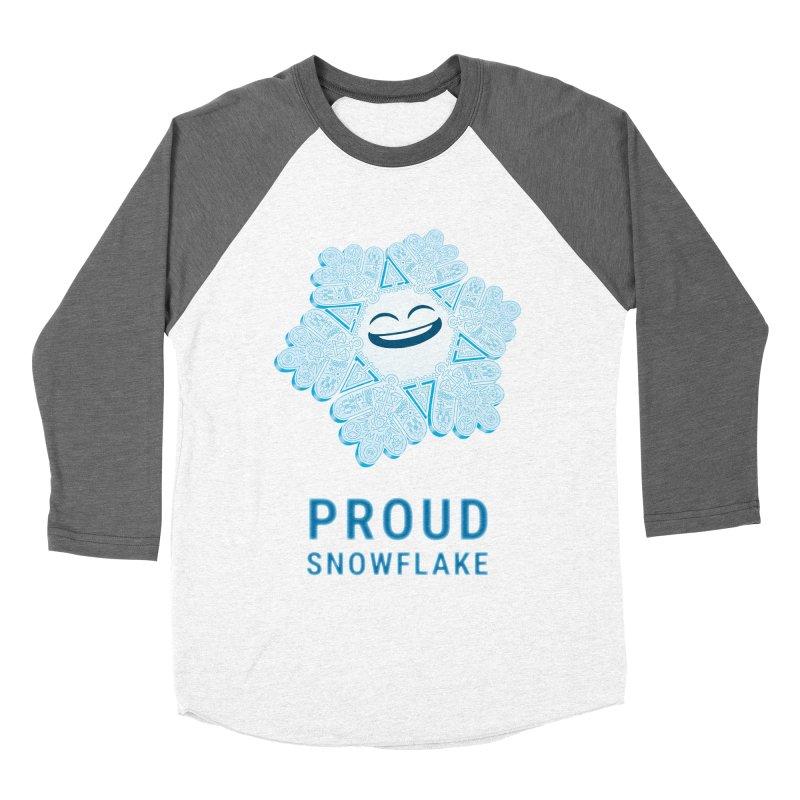 Proud Snowflake Men's Baseball Triblend Longsleeve T-Shirt by BRETT WISEMAN