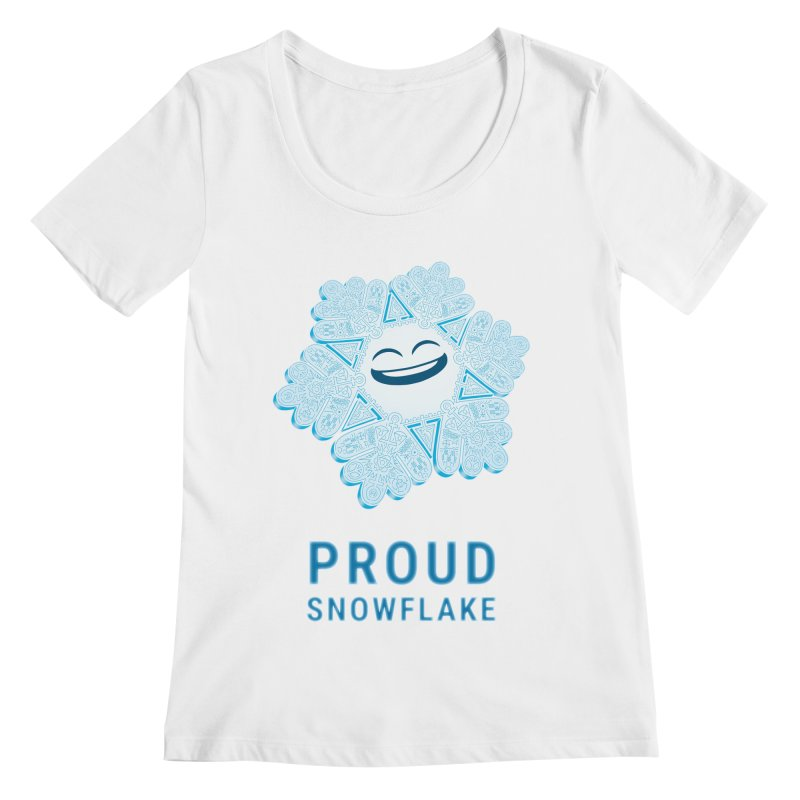 Proud Snowflake Women's Regular Scoop Neck by BRETT WISEMAN