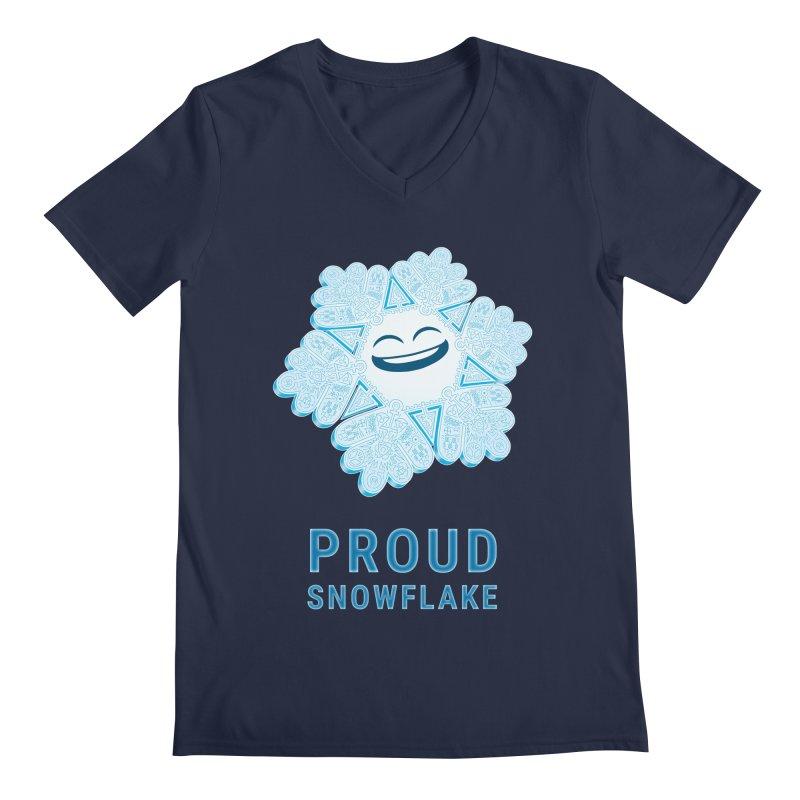 Proud Snowflake Men's Regular V-Neck by BRETT WISEMAN