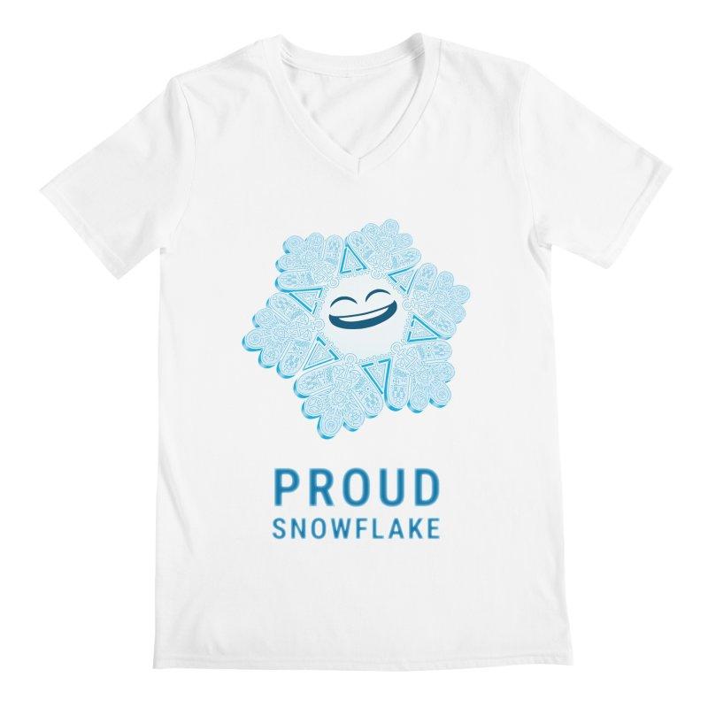 Proud Snowflake Men's V-Neck by BRETT WISEMAN