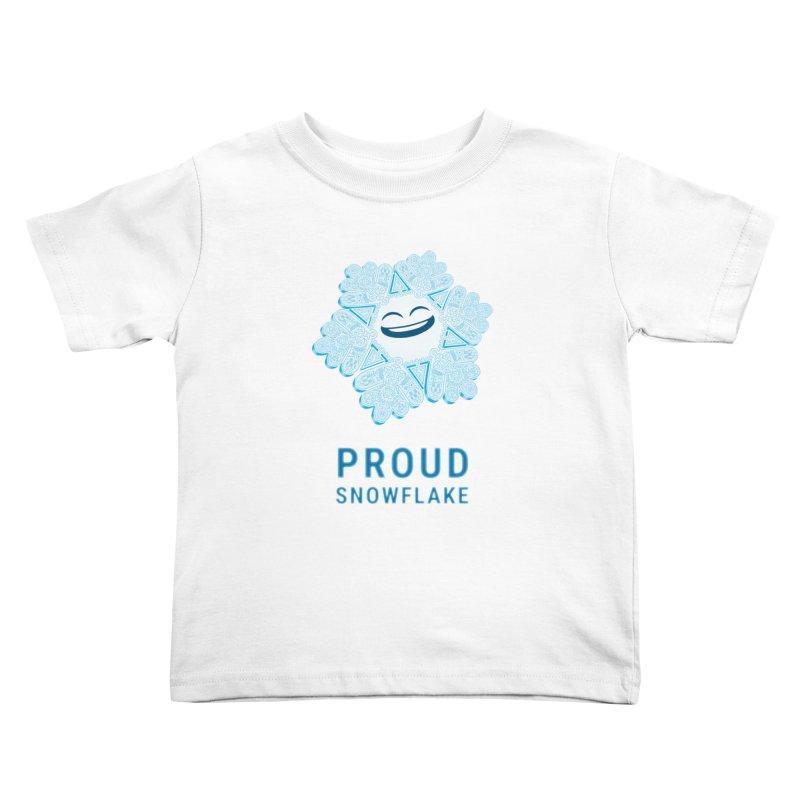 Proud Snowflake Kids Toddler T-Shirt by BRETT WISEMAN