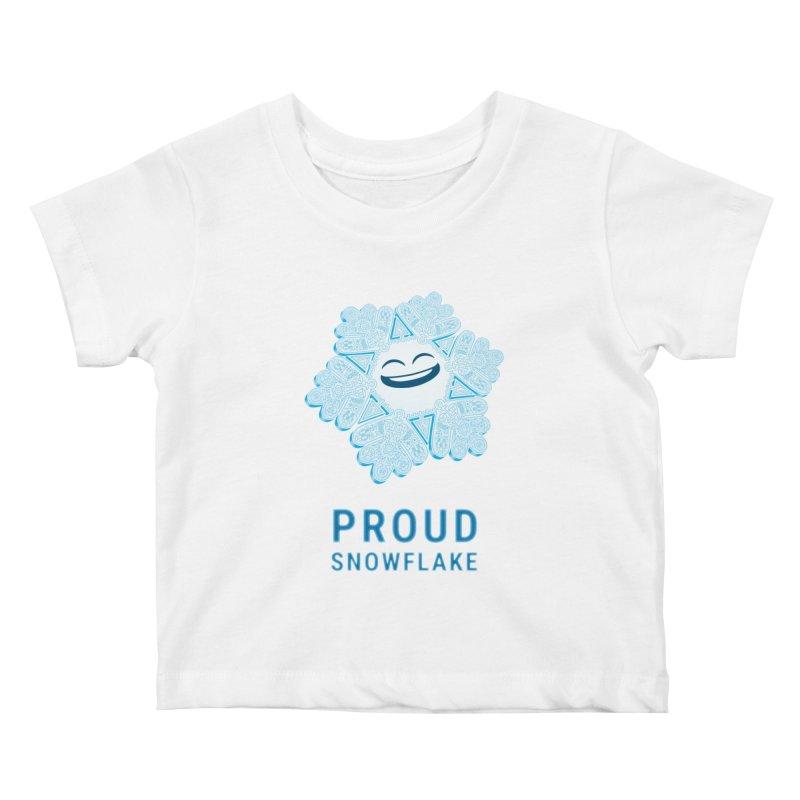 Proud Snowflake Kids Baby T-Shirt by BRETT WISEMAN