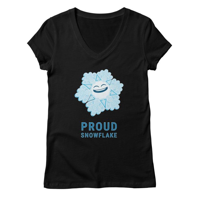 Proud Snowflake Women's V-Neck by BRETT WISEMAN