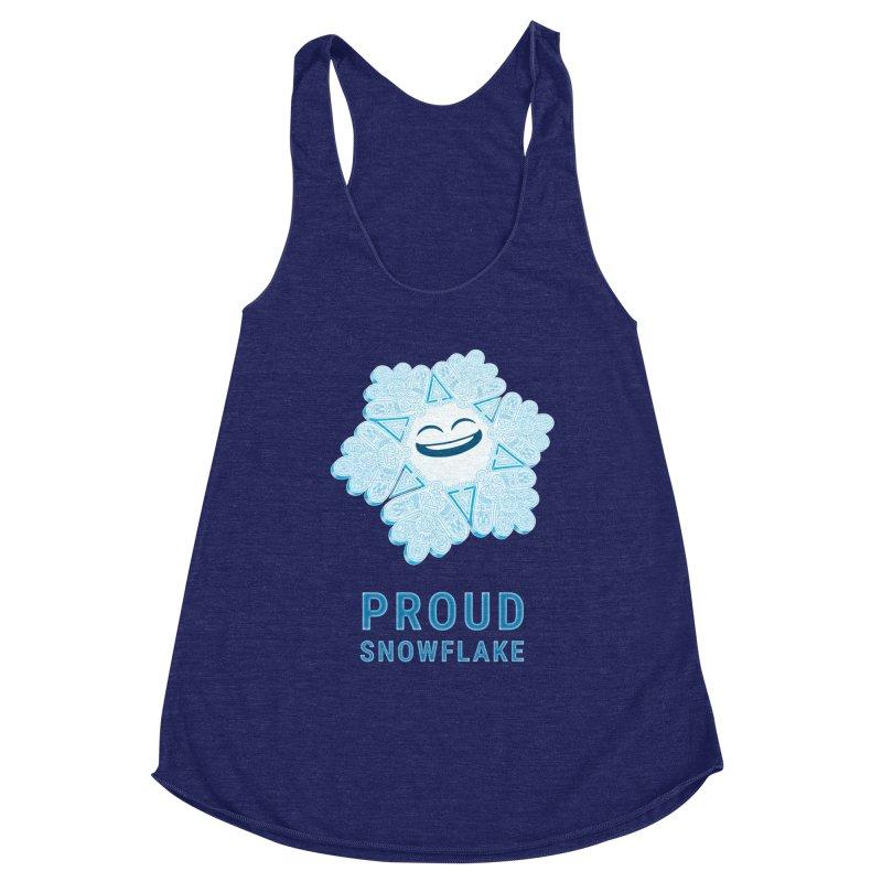 Proud Snowflake Women's Racerback Triblend Tank by BRETT WISEMAN