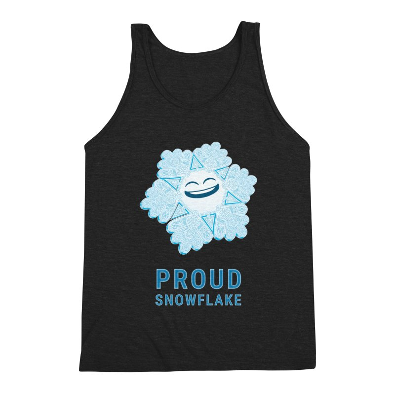 Proud Snowflake Men's Triblend Tank by BRETT WISEMAN