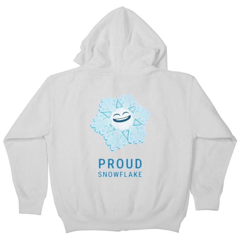 Proud Snowflake Kids Zip-Up Hoody by BRETT WISEMAN