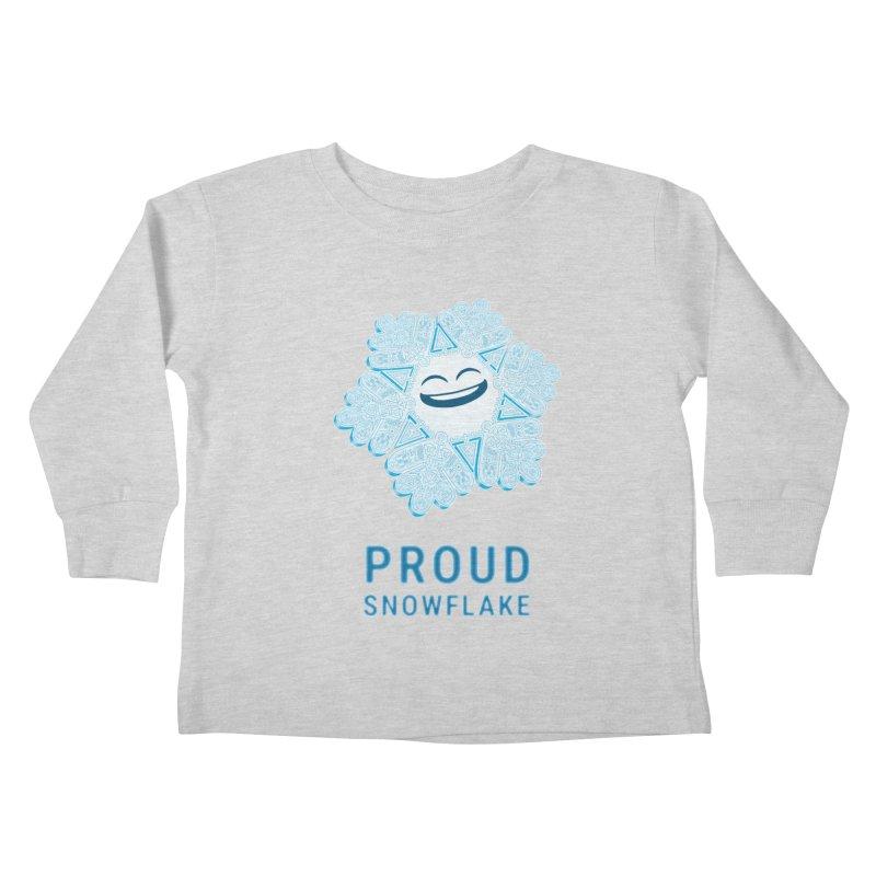 Proud Snowflake Kids Toddler Longsleeve T-Shirt by BRETT WISEMAN