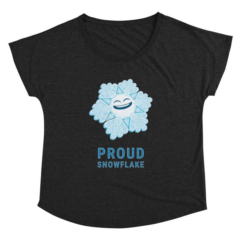 Proud Snowflake Women's Dolman by BRETT WISEMAN