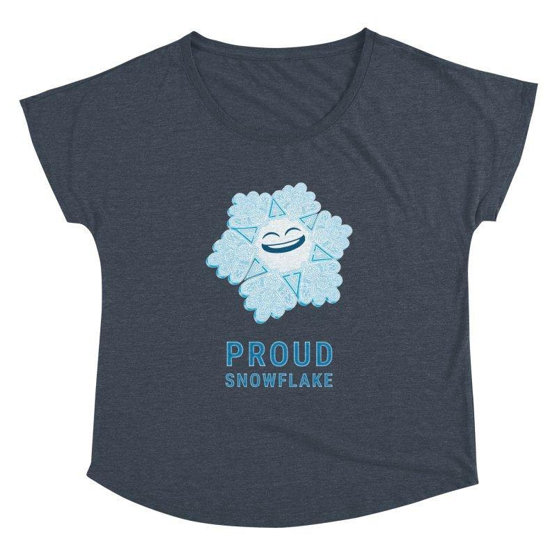 Proud Snowflake Women's Dolman Scoop Neck by BRETT WISEMAN