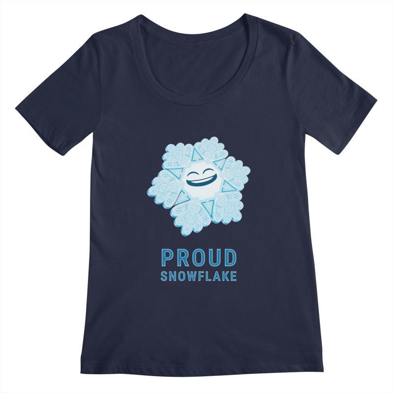 Proud Snowflake Women's Regular Scoop Neck by BRETT WISEMAN