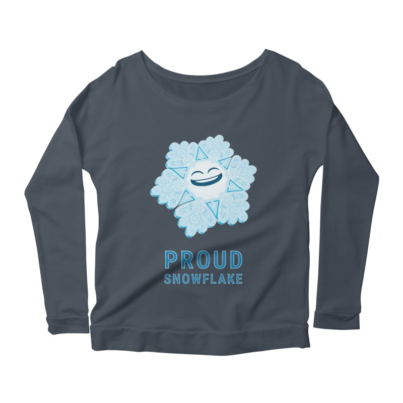 Proud Snowflake Women's Scoop Neck Longsleeve T-Shirt by BRETT WISEMAN