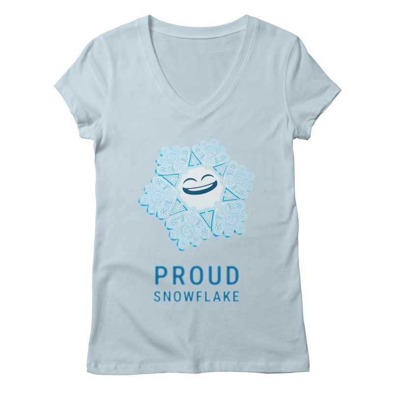 Proud Snowflake Women's V-Neck by BRETT WISEMAN