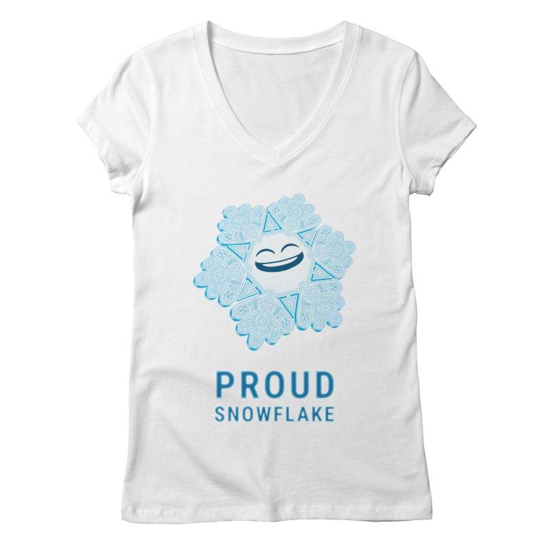 Proud Snowflake Women's Regular V-Neck by BRETT WISEMAN