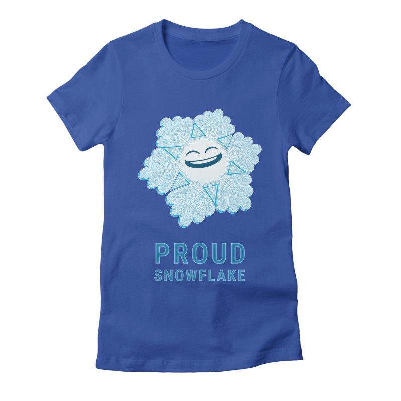 Proud Snowflake Women's Fitted T-Shirt by BRETT WISEMAN