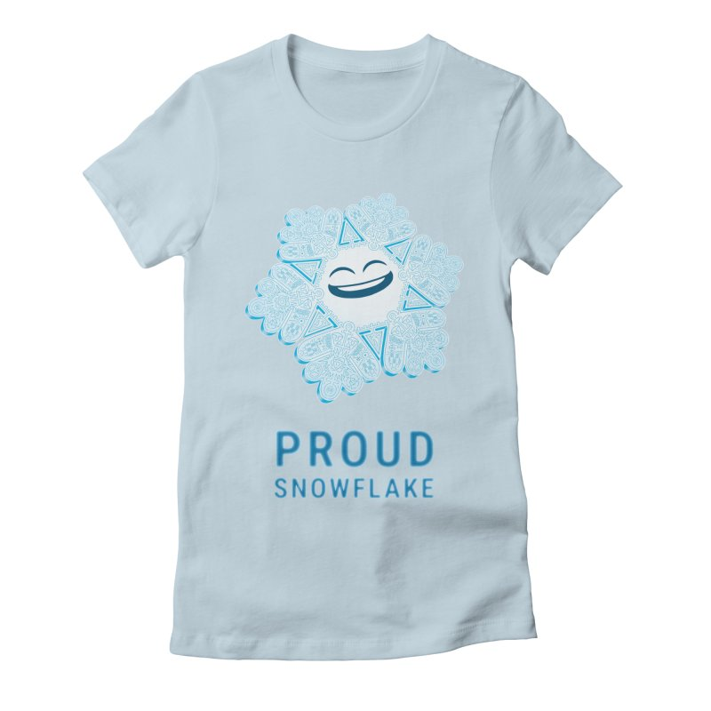Proud Snowflake Women's Fitted T-Shirt by BRETT WISEMAN