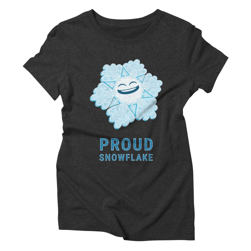 Proud Snowflake Women's Triblend T-Shirt by BRETT WISEMAN