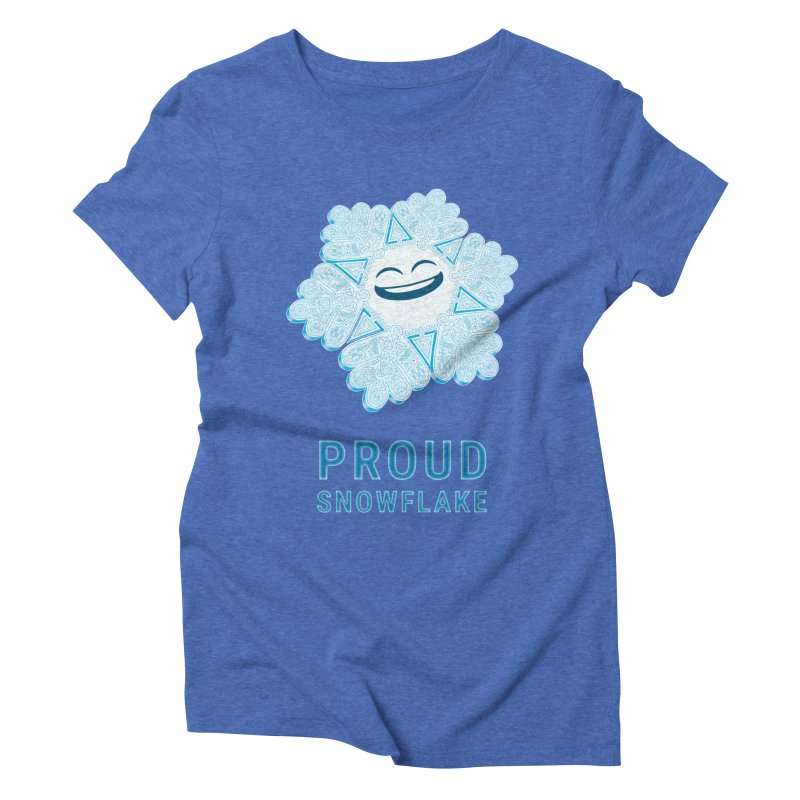 Proud Snowflake Women's Triblend T-Shirt by BRETT WISEMAN