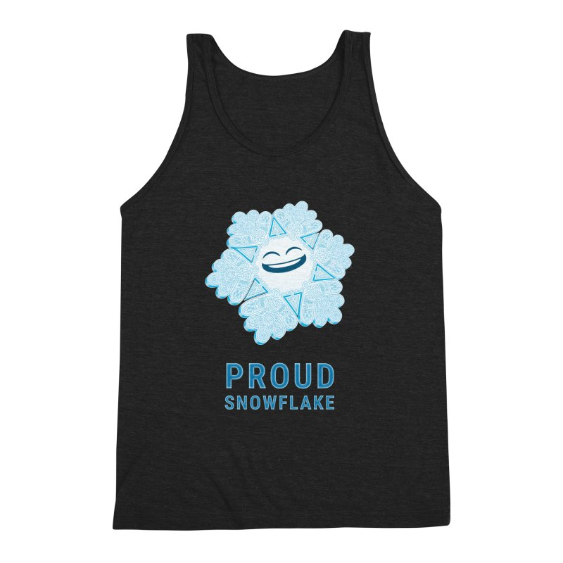 Proud Snowflake Men's Triblend Tank by BRETT WISEMAN