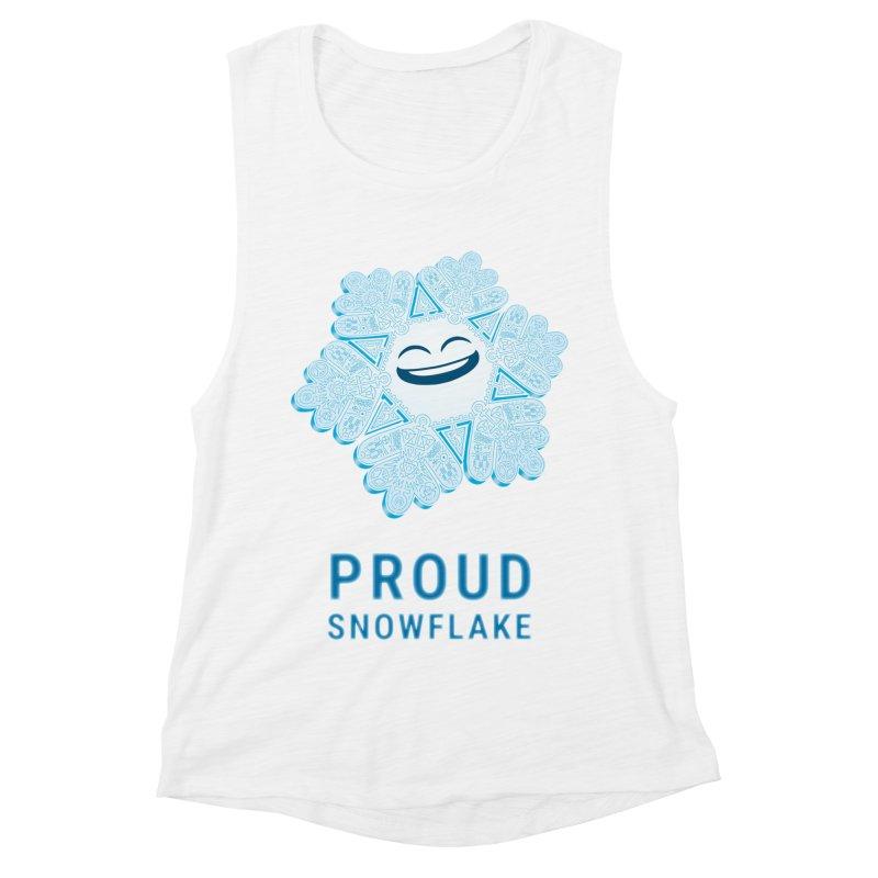 Proud Snowflake Women's Muscle Tank by BRETT WISEMAN