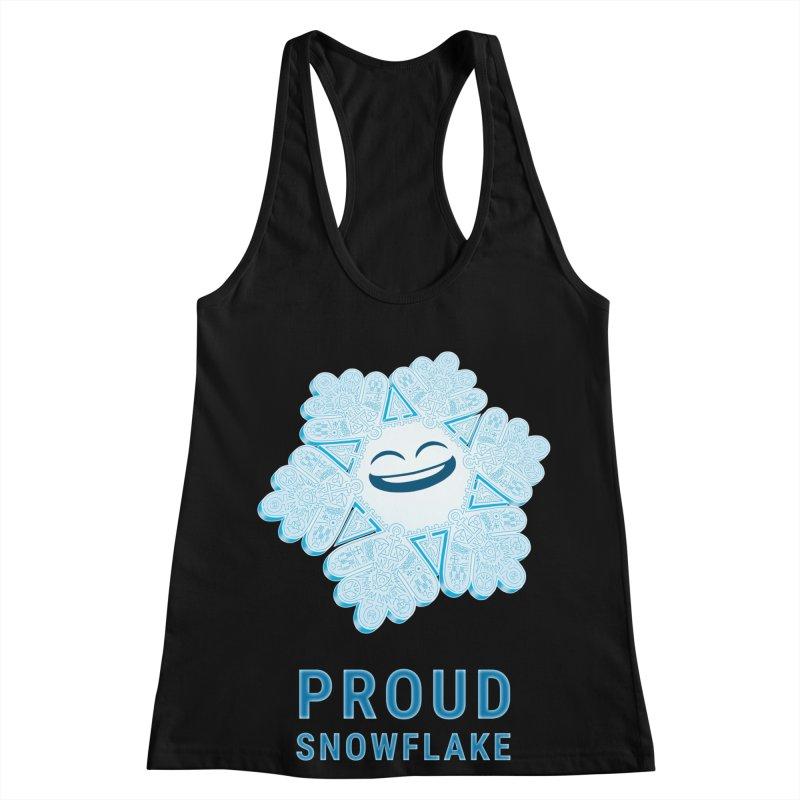 Proud Snowflake Women's Racerback Tank by BRETT WISEMAN