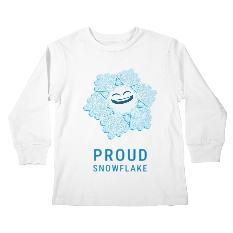 Proud Snowflake Kids Longsleeve T-Shirt by BRETT WISEMAN