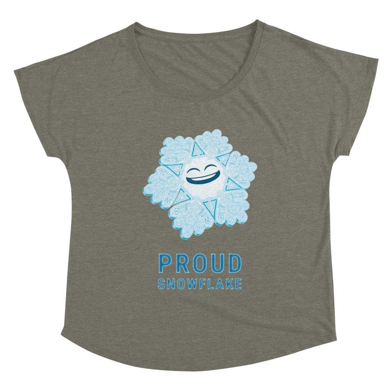 Proud Snowflake Women's Scoop Neck by BRETT WISEMAN