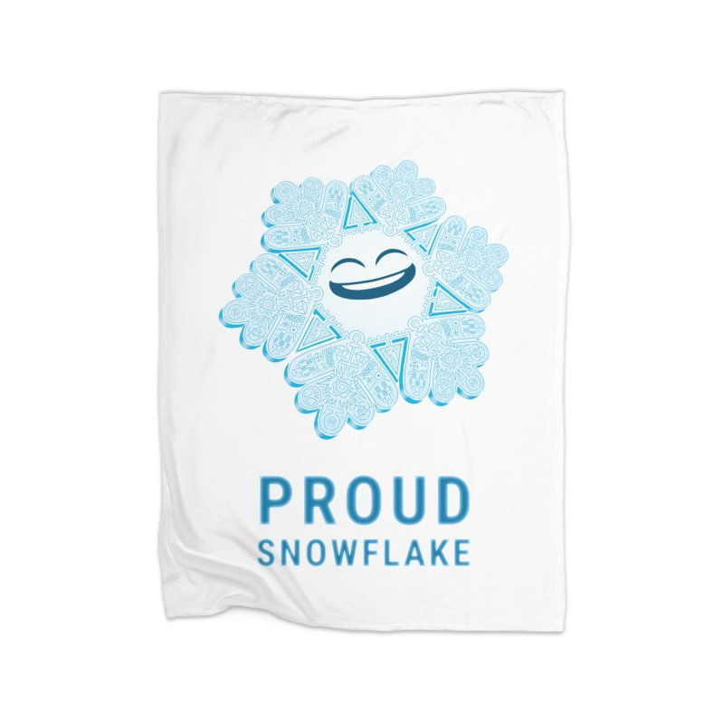 Proud Snowflake Home Fleece Blanket Blanket by BRETT WISEMAN