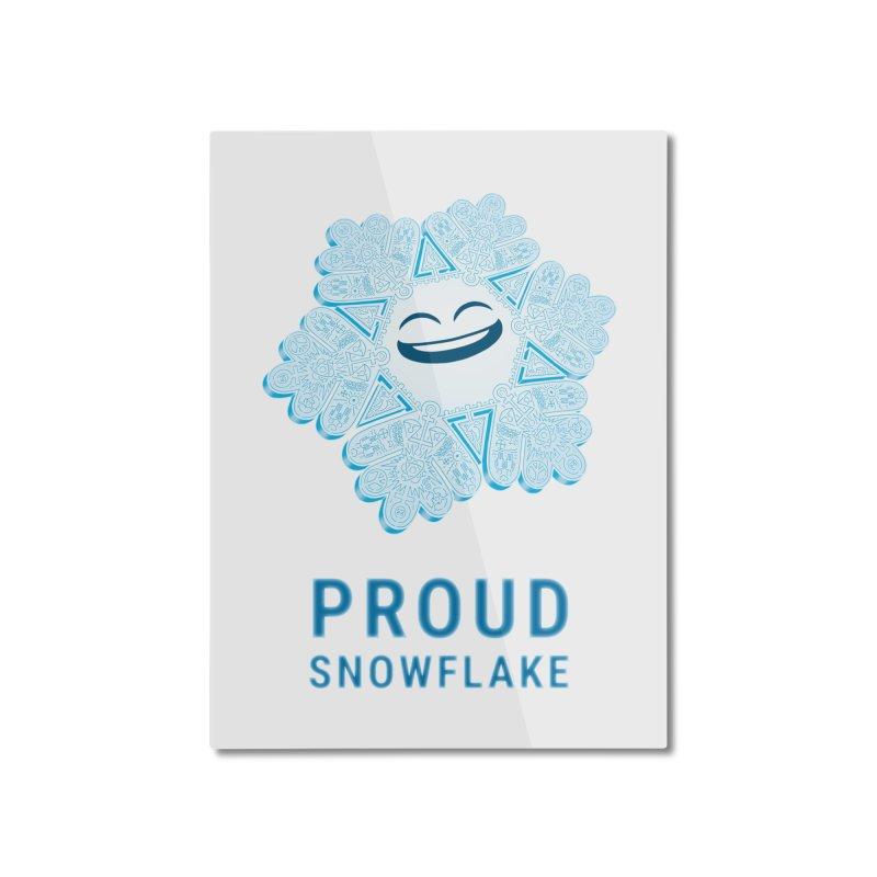 Proud Snowflake Home Mounted Aluminum Print by BRETT WISEMAN