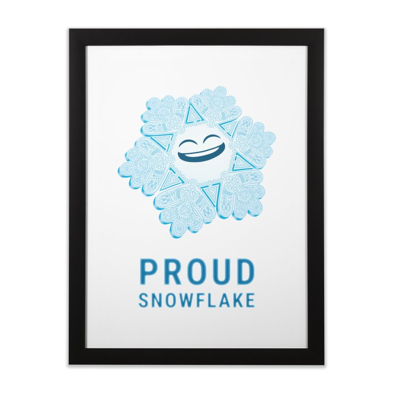 Proud Snowflake Home Framed Fine Art Print by BRETT WISEMAN